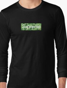 Supreme x Weed Box Logo T-Shirt Long Sleeve T-Shirt