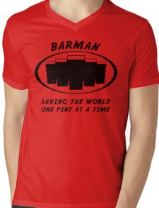 Barman Mens V-Neck T-Shirt