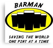 Barman Canvas Print