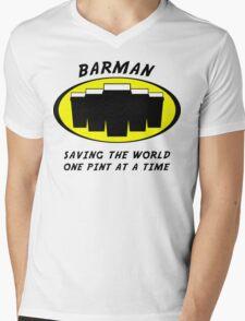 Barman Mens V-Neck T-Shirt