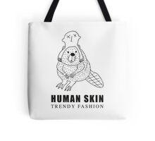 Human Skin Trendy Fashion Beaver / Castor Tote Bag