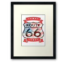 route 66 logo  Framed Print