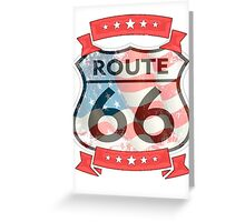 route 66 logo  Greeting Card