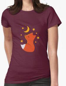 Cute little fox Womens Fitted T-Shirt