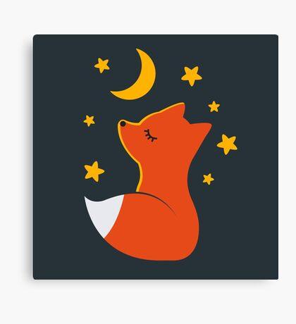 Cute little fox Canvas Print