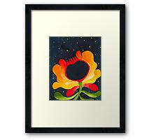 Orange-yellow folk flower Framed Print