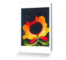 Orange-yellow folk flower Greeting Card