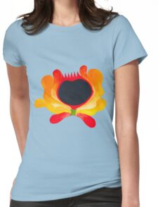 Orange-yellow folk flower Womens Fitted T-Shirt