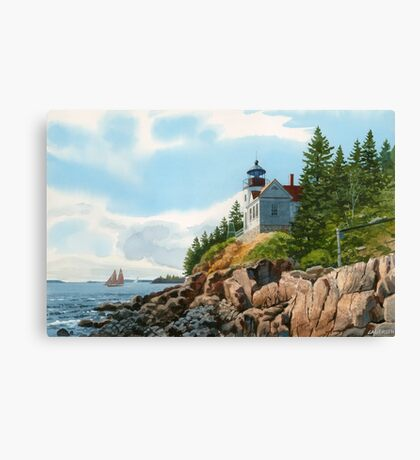 New England Coastline Canvas Print