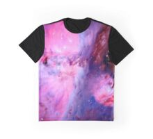 Red, Pink, and Blue Space Graphic T-Shirt