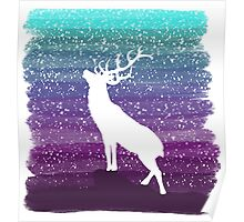 Deer from the Purple Dream Poster