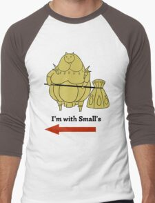 I'm with small's Men's Baseball ¾ T-Shirt
