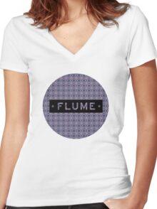 Flume - round Women's Fitted V-Neck T-Shirt