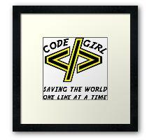 Codegirl Framed Print