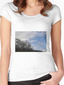 winter walks Women's Fitted Scoop T-Shirt