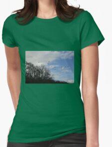 winter walks Womens Fitted T-Shirt
