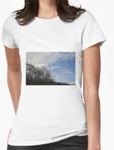 winter walks Womens Fitted T-Shirt