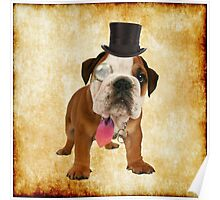 British Bulldog Vintage Poster