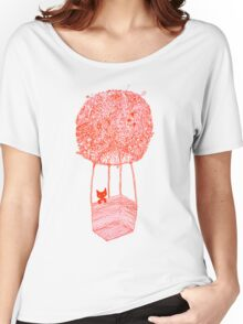 Adventure Cat ft. Plant Balloon Women's Relaxed Fit T-Shirt