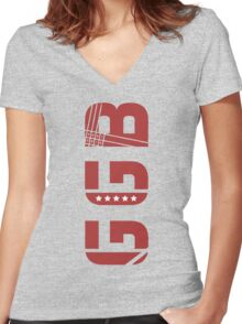GGB - Go Get Big Women's Fitted V-Neck T-Shirt