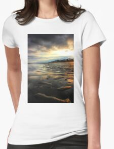 East Beach Sunset Womens Fitted T-Shirt