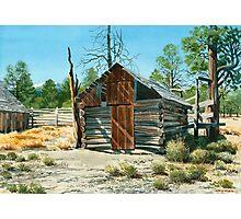 Log Cabin Oregon High Desert Photographic Print