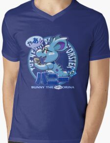 Bunny the Nerdorina Mens V-Neck T-Shirt