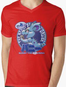 Bunny the Nerdorina Mens V-Neck T-Shirt