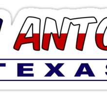 San Antonio Texas flag word art Sticker