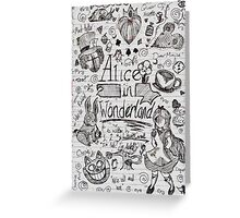 Alice in Wonderland Sketchbook Page 1 Greeting Card