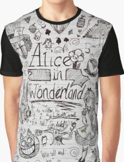 Alice in Wonderland Sketchbook Page 1 Graphic T-Shirt