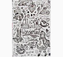 Alice in Wonderland Sketchbook Page 1 Unisex T-Shirt