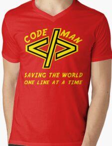 Codeman Mens V-Neck T-Shirt
