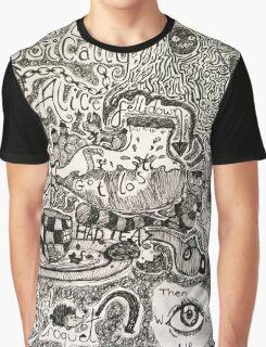 Alice in Wonderland Sketchbook page 2 Graphic T-Shirt