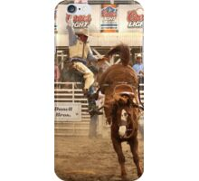 Rodeo Cowboy is Thrown from his Horse iPhone Case/Skin