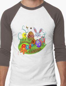 Easter Bunny Men's Baseball ¾ T-Shirt