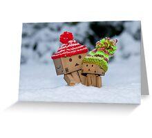 Cardboard Robots Greeting Card