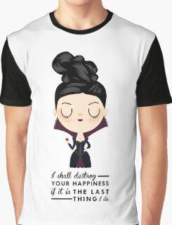 Regina Evil Queen - Happiness quote Graphic T-Shirt