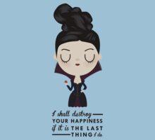 Regina Evil Queen - Happiness quote Kids Tee