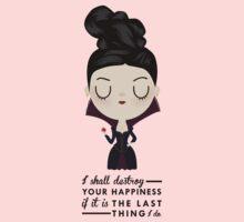 Regina Evil Queen - Happiness quote One Piece - Short Sleeve