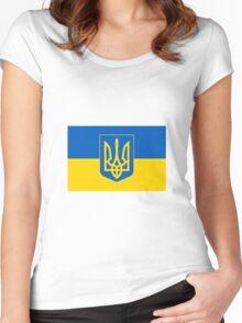 UKRAINE Women's Fitted Scoop T-Shirt