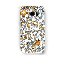 Chubby cat with a balloon Phone casing Samsung Galaxy Case/Skin
