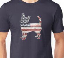 Patriotic Chihuahua, American Flag Unisex T-Shirt