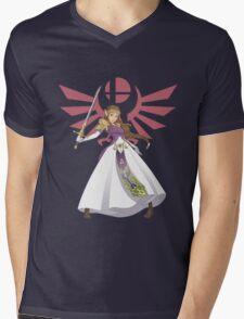 Smash Bros - Zelda Mens V-Neck T-Shirt