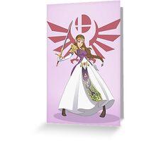 Smash Bros - Zelda Greeting Card