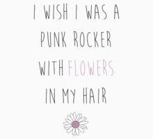 Punk Rocker With Flowers One Piece - Long Sleeve