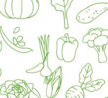 Vegan Vegetables Healthy Green Food Graphic Tee Doodle Sticker