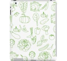 Vegan Vegetables Healthy Green Food Graphic Tee Doodle iPad Case/Skin