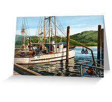 Yaquina Bay Oregon Coast Greeting Card