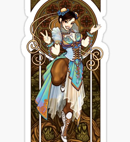 Strongest Woman in the World  (Art Nouveau China) Sticker